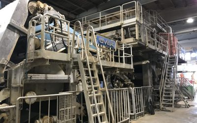 Twin Wire Tissue Machine width at pope reel 2.700 mm